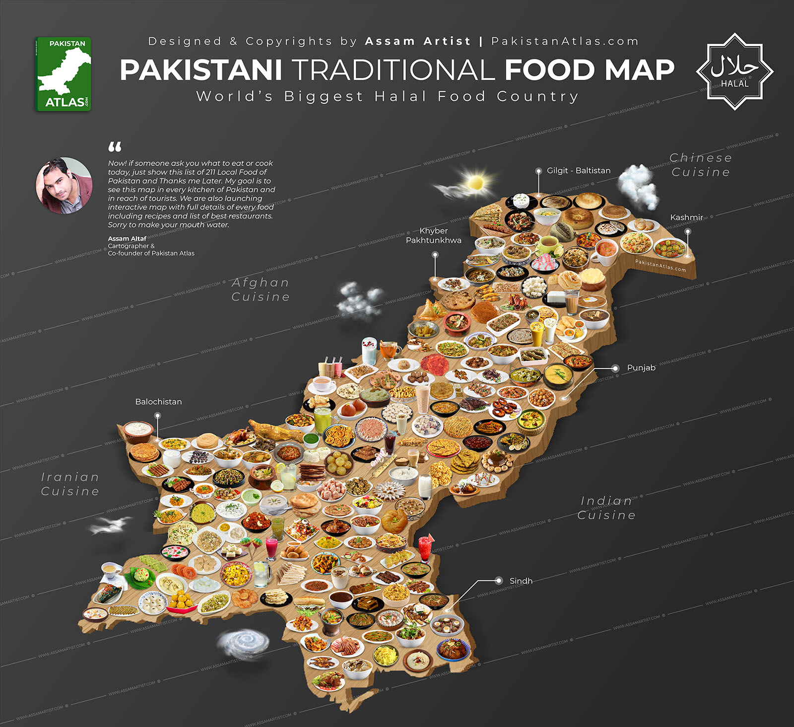 Pakistani food map high resolution
