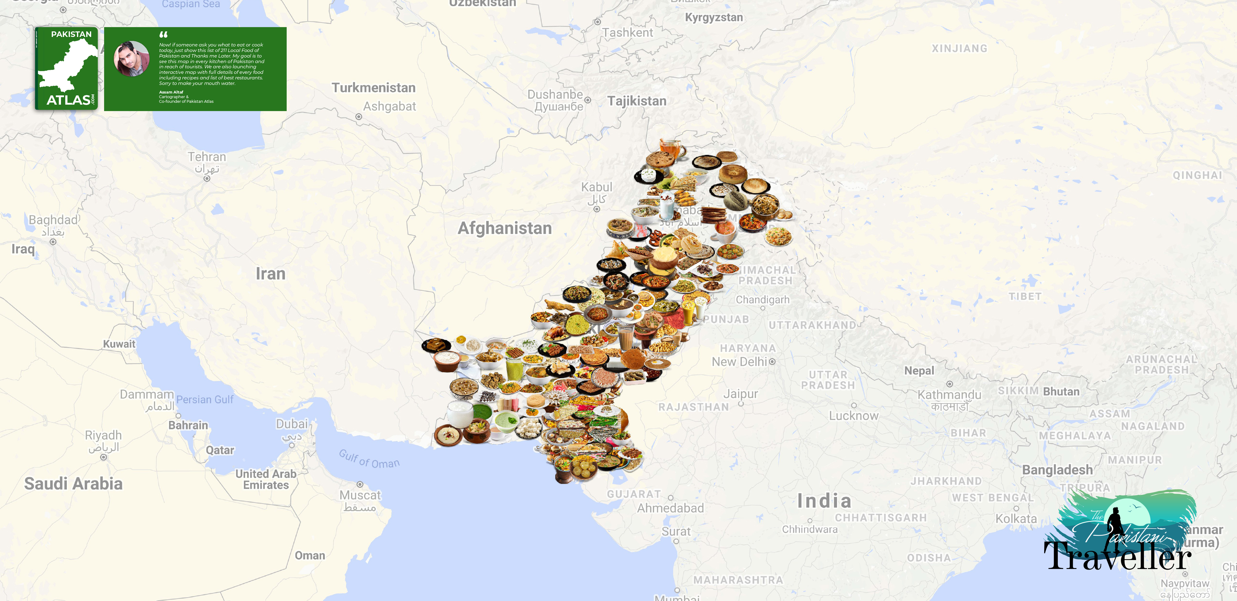 Pakistani Traditional food map